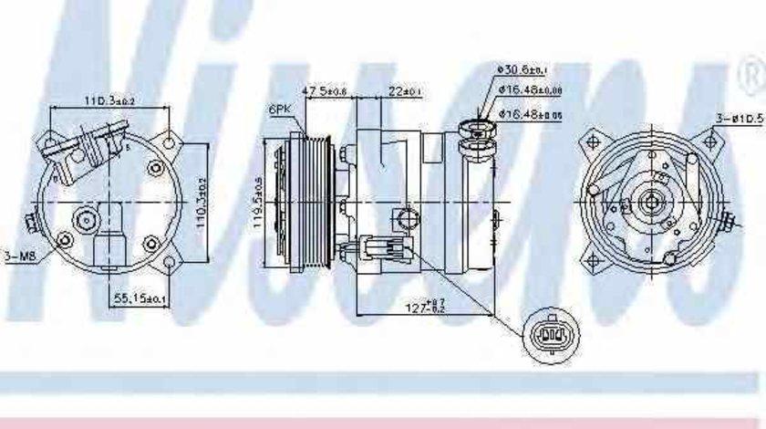 Compresor climatizare DAEWOO NUBIRA Wagon KLAJ Producator NISSENS 89257