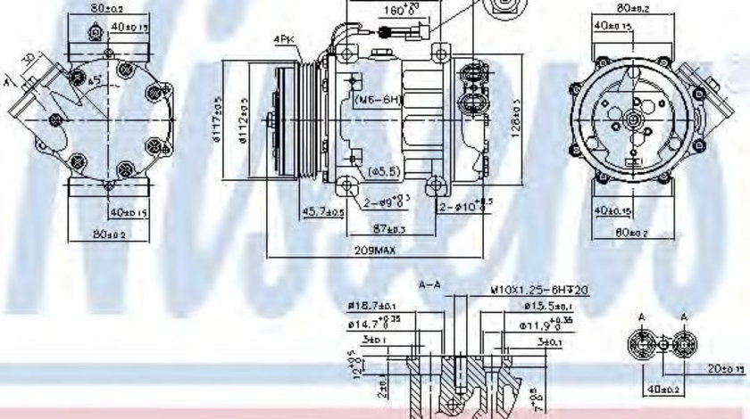 Compresor, climatizare FIAT DUCATO caroserie (250, 290) (2006 - 2016) NISSENS 89347 piesa NOUA