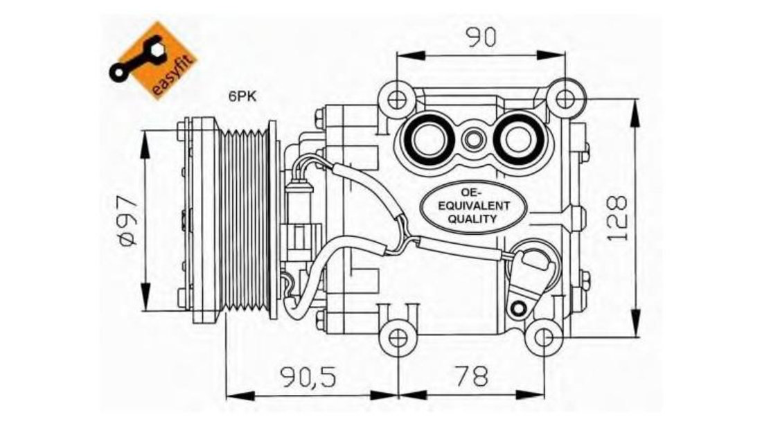 Compresor, climatizare Ford Fiesta 4 (1995-2002) [JA_, JB_] #3 1064354