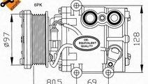 Compresor, climatizare FORD FIESTA IV (JA, JB) (19...