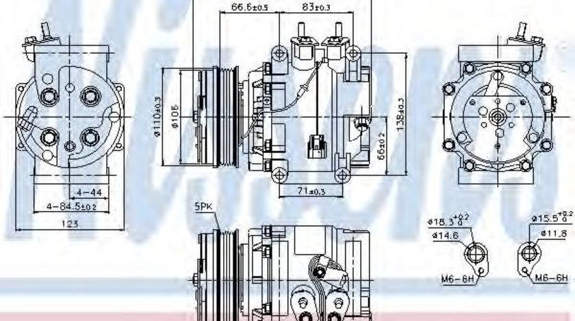 Compresor, climatizare FORD FIESTA VI (2008 - 2016) NISSENS 89235 piesa NOUA