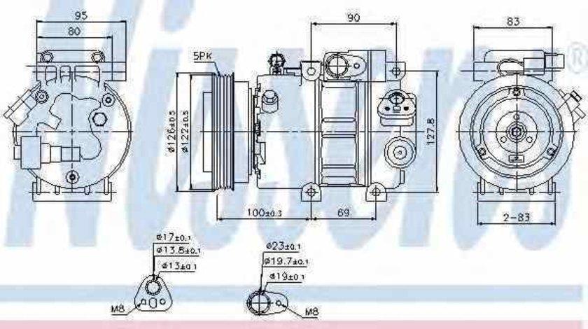 Compresor climatizare HYUNDAI ACCENT III limuzina MC NISSENS 89292