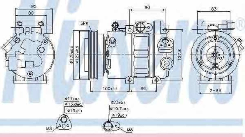 Compresor climatizare HYUNDAI ACCENT III MC NISSENS 89292