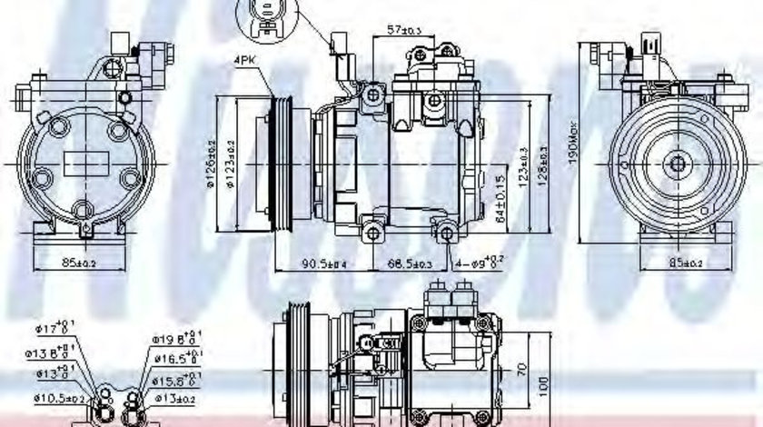 Compresor, climatizare HYUNDAI TUCSON (JM) (2004 - 2010) NISSENS 89286 piesa NOUA
