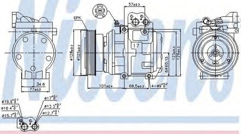 Compresor, climatizare HYUNDAI TUCSON (JM) (2004 - 2010) NISSENS 89153 piesa NOUA