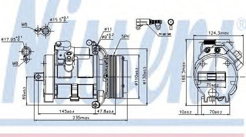 Compresor, climatizare LAND ROVER RANGE ROVER III (LM) (2002 - 2012) NISSENS 89077 piesa NOUA