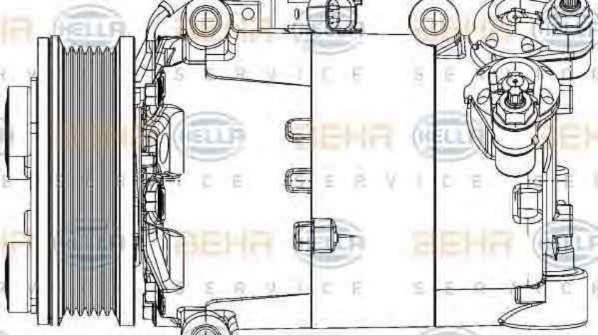 Compresor, climatizare LAND ROVER RANGE ROVER EVOQUE (LV) HELLA 8FK 351 334-431
