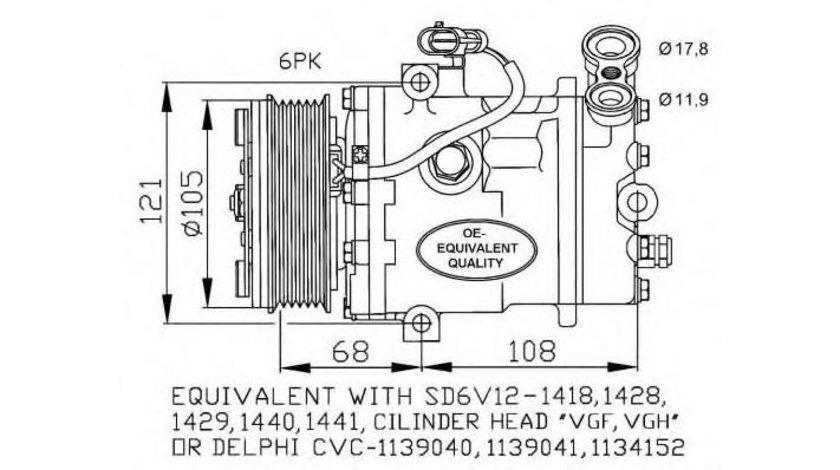 Compresor, climatizare Opel Astra G (1999-2009)[T98,F70] #2 09132922