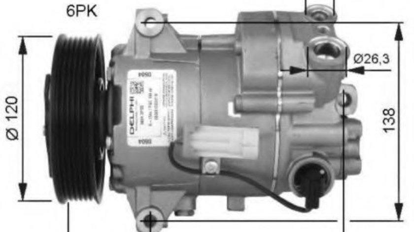 Compresor, climatizare OPEL ASTRA J (2009 - 2016) NRF 32487G piesa NOUA