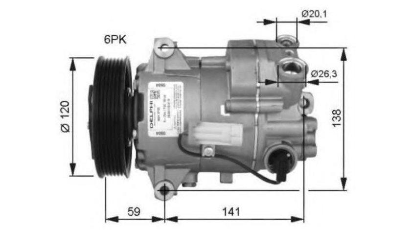 Compresor, climatizare Opel Astra J (2009->)[P10] #3 101OP14001