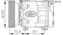Compresor, climatizare RENAULT SANDERO/STEPWAY I N...