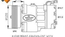 Compresor, climatizare SEAT IBIZA II (6K1) NRF 320...