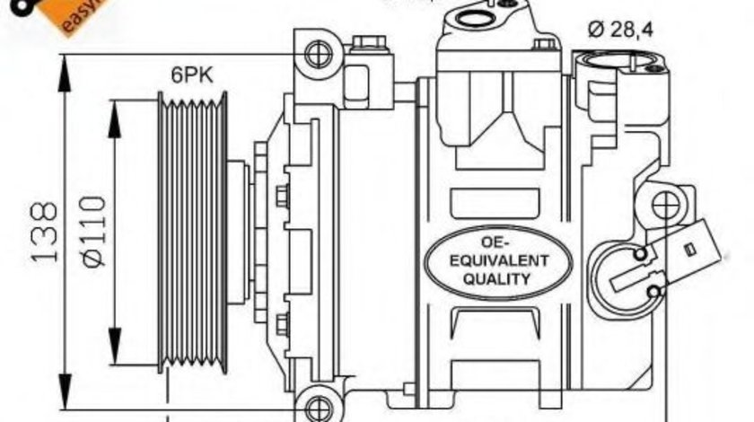 Compresor, climatizare VW PASSAT CC (357) (2008 - 2012) NRF 32146 piesa NOUA