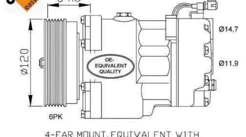 Compresor, climatizare VW PASSAT Variant (3A5, 35I) NRF 32033