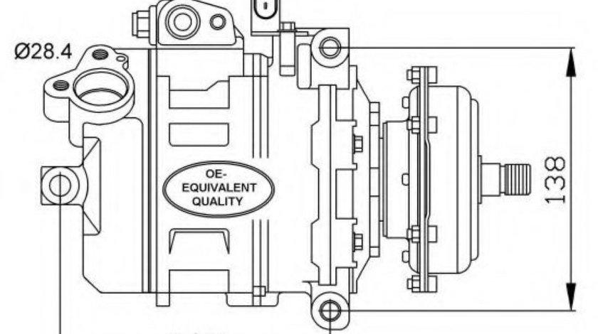Compresor, climatizare VW PHAETON (3D) (2002 - 2016) NRF 32148 piesa NOUA