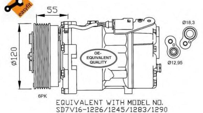 Compresor, climatizare VW SHARAN (7M8, 7M9, 7M6) (1995 - 2010) NRF 32255 piesa NOUA