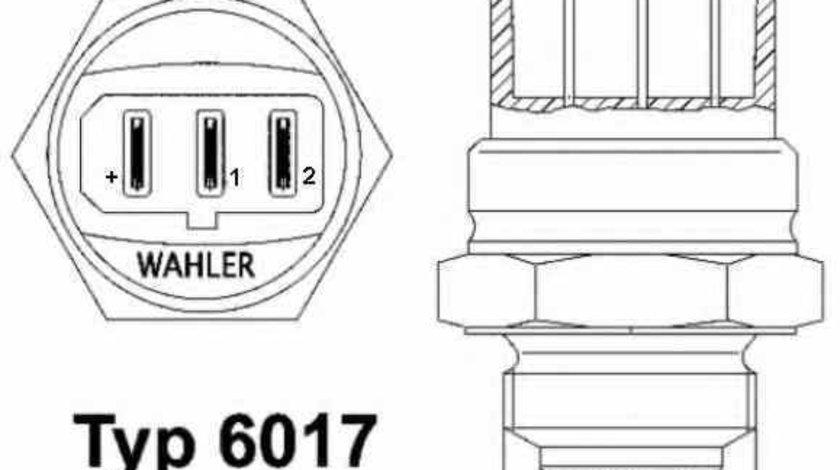 Comutator temperatura ventilator radiator AUDI A8 4D2 4D8 Producator WAHLER 6017.95D
