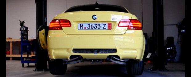 Concert in prima auditie: BMW M3 cu evacuare fara tobe de esapament