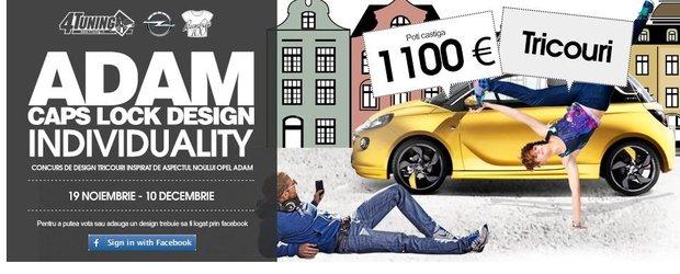 Concurs de design tricouri inspirat de Opel Adam
