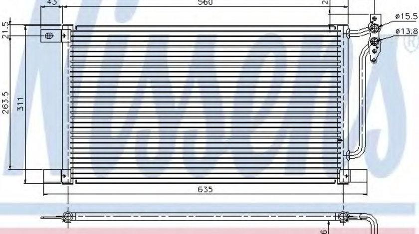 Condensator, climatizare BMW X3 (E83) (2004 - 2011) NISSENS 94527 piesa NOUA