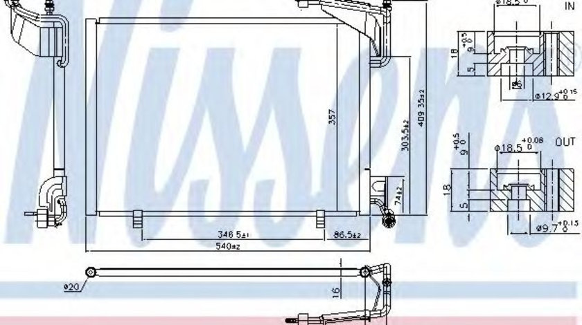 Condensator, climatizare FORD B-MAX (JK) (2012 - 2016) NISSENS 940528 piesa NOUA