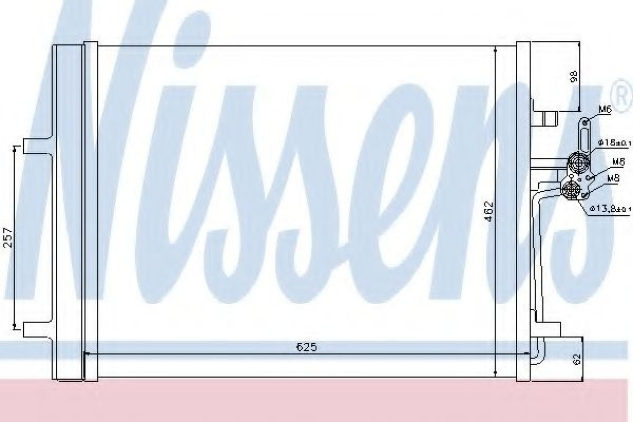 Condensator, climatizare LAND ROVER FREELANDER 2 (LF, FA) (2006 - 2014) NISSENS 940044 piesa NOUA