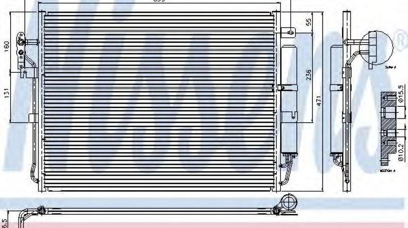 Condensator, climatizare LAND ROVER RANGE ROVER SPORT (LS) (2005 - 2013) NISSENS 94962 piesa NOUA