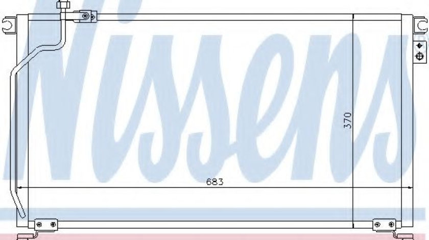 Condensator, climatizare NISSAN TERRANO II (R20) (1992 - 2007) NISSENS 94501 piesa NOUA