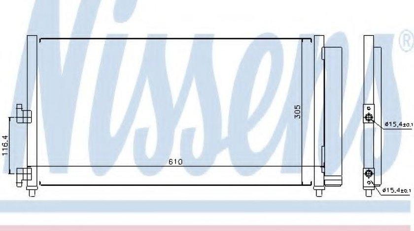 Condensator / Radiator aer conditionat FIAT DOBLO Cargo (223) (2000 - 2016) NISSENS 94727 produs NOU