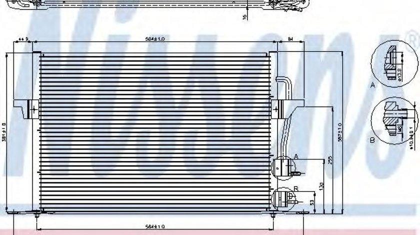 Condensator / Radiator aer conditionat FORD MONDEO II (BAP) (1996 - 2000) NISSENS 94308 produs NOU