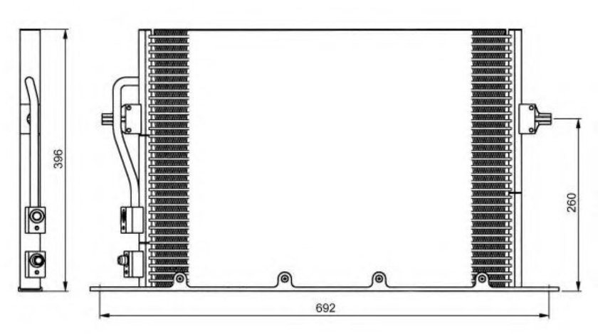 Condensator / Radiator aer conditionat FORD MONDEO II (BAP) (1996 - 2000) NRF 35196 produs NOU