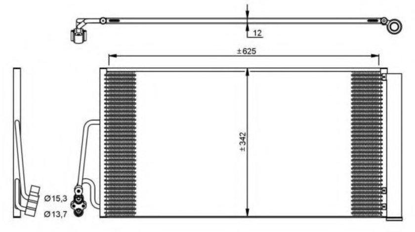 Condensator / Radiator aer conditionat MINI MINI COUNTRYMAN (R60) (2010 - 2016) NRF 35898 produs NOU