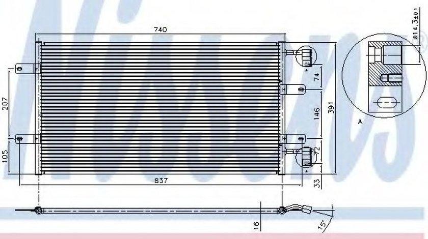 Condensator / Radiator aer conditionat NISSAN PRIMASTAR bus (X83) (2001 - 2016) NISSENS 94678 produs NOU