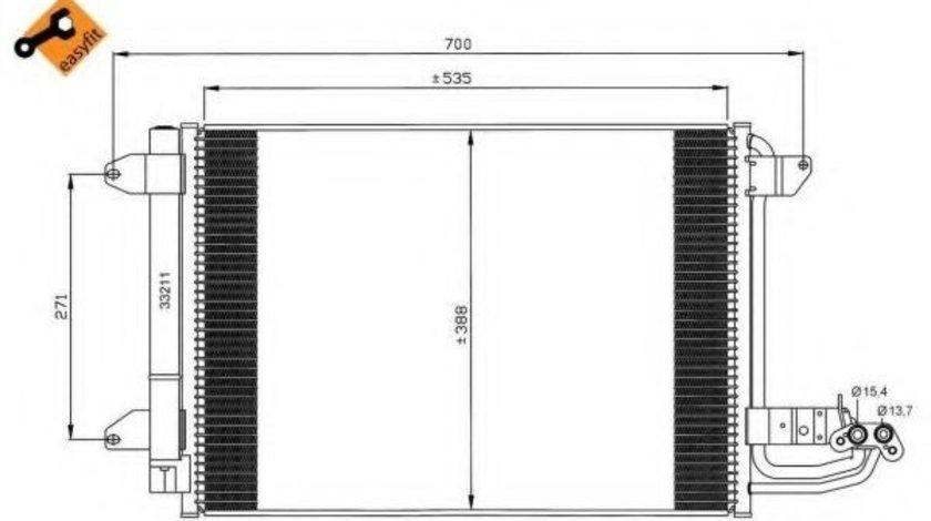 Condensator / Radiator aer conditionat VW GOLF PLUS (5M1, 521) (2005 - 2013) NRF 35520 - produs NOU