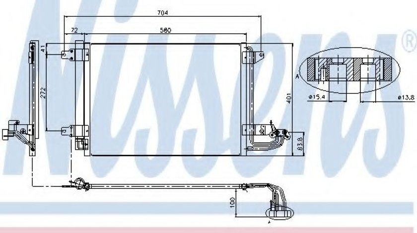 Condensator / Radiator aer conditionat VW GOLF VI (5K1) (2008 - 2013) NISSENS 94684 - produs NOU