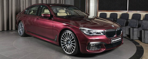 Conduce un BMW Seria 7 realizat la comanda. Culoarea caroseriei il face unic in lume