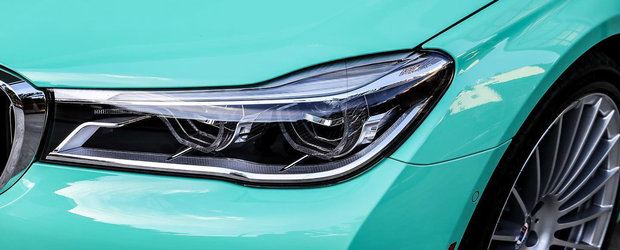 Conduce un BMW Seria 7 realizat la comanda. Culoarea caroseriei il face unic in lume. FOTO ca sa te convingi si singur