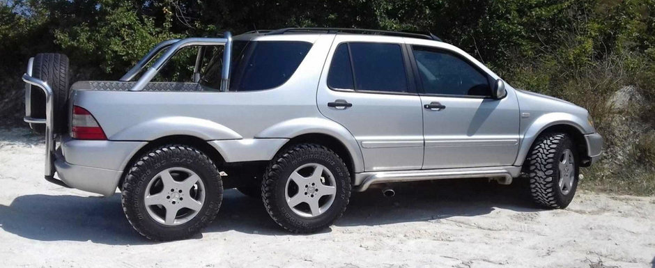 Conduce un Mercedes ML unic in lume iar acum il vinde. SUV-ul are sase roti si instalatie GPL