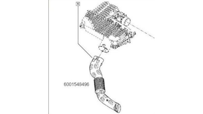 CONDUCTA AER INTRARE FILTRU Logan/Sandero 1.4/1.6 RENAULT 6001548496 <br>