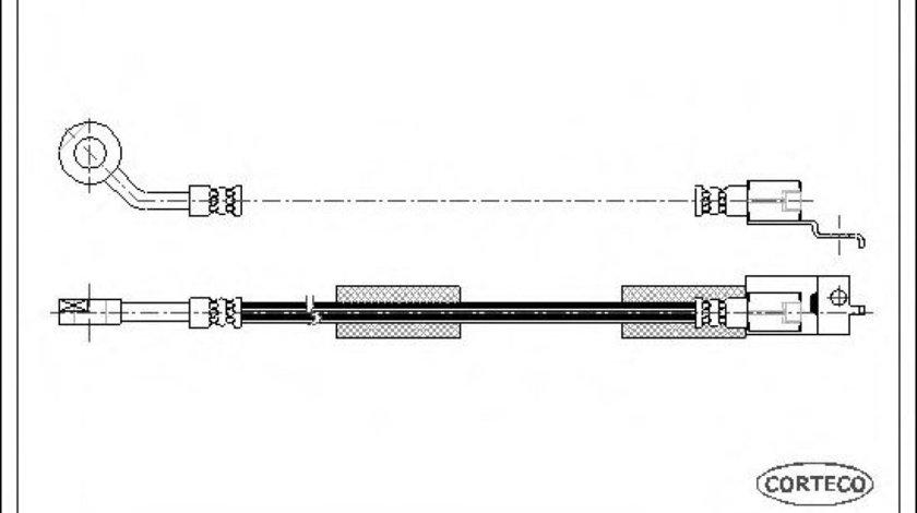 Conducta / cablu frana JEEP WRANGLER II (TJ) (1996 - 2008) CORTECO 19032488 - produs NOU