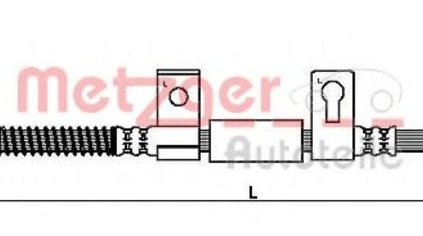 Conducta / cablu frana KIA SORENTO I (JC) (2002 - 2009) METZGER 4110827 produs NOU