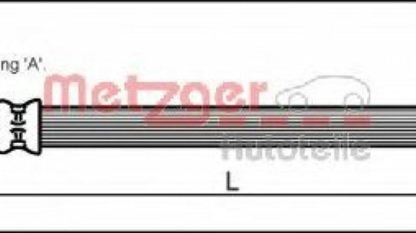Conducta / cablu frana MERCEDES E-CLASS (W210) (1995 - 2003) METZGER 4110581 produs NOU