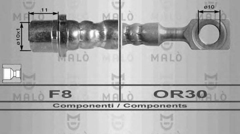 Conducta / cablu frana OPEL ASTRA G Cupe (F07) (2000 - 2005) MALO 8936 - produs NOU