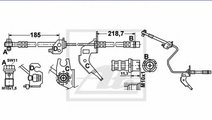 Conducta / cablu frana OPEL ASTRA H (L48) (2004 - ...