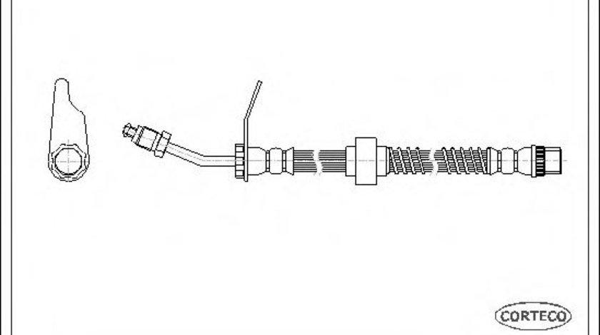 Conducta / cablu frana OPEL MOVANO Combi (J9) (1998 - 2010) CORTECO 19030291 - produs NOU