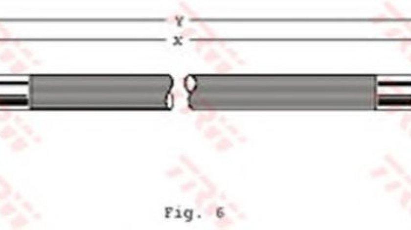 Conducta / cablu frana OPEL TIGRA (95) (1994 - 2000) TRW PHA229 produs NOU