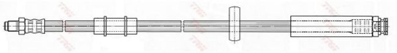 Conducta / cablu frana PEUGEOT BOXER caroserie (244) (2001 - 2016) TRW PHB480 - produs NOU