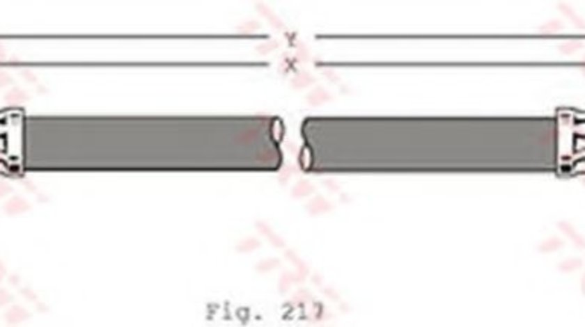 Conducta / cablu frana SEAT TOLEDO IV (KG3) (2012 - 2016) TRW PHA341 - produs NOU