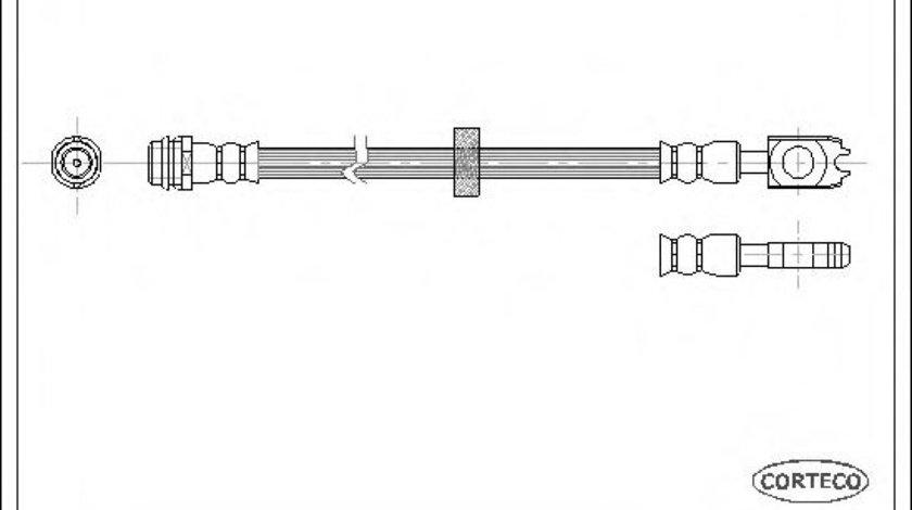 Conducta / cablu frana SKODA OCTAVIA I (1U2) (1996 - 2010) CORTECO 19026392 produs NOU
