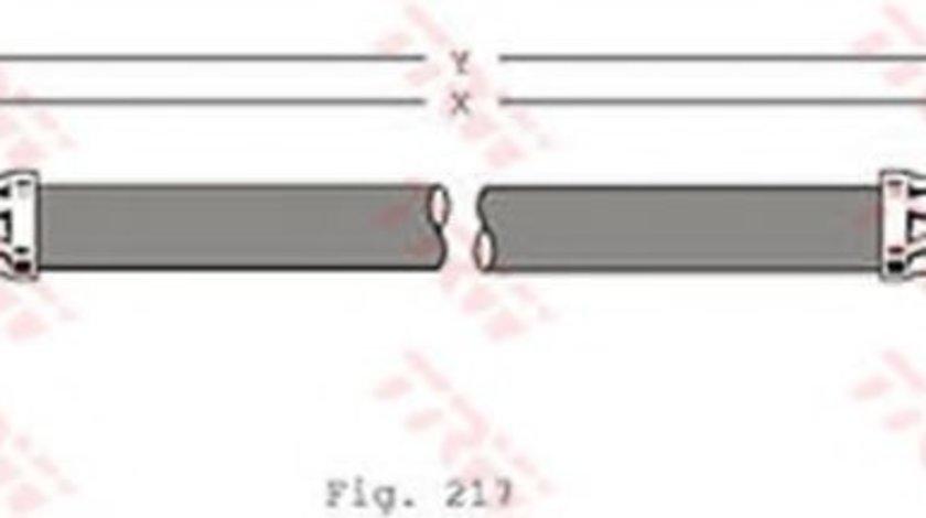 Conducta / cablu frana SKODA ROOMSTER (5J) (2006 - 2015) TRW PHA341 produs NOU